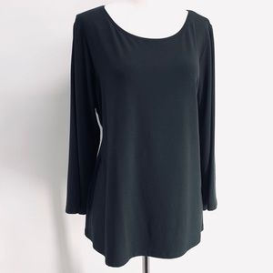 Eileen Fisher Black (large) Top 3/4 sleeves